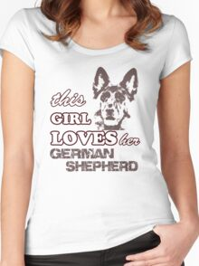 This Girl Loves Her German Shepherd Women's Fitted Scoop T-Shirt