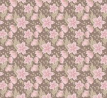 Floral pattern brown dotted background by fuzzyfox