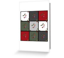 Patchwork seamless pattern texture background with cherries Greeting Card