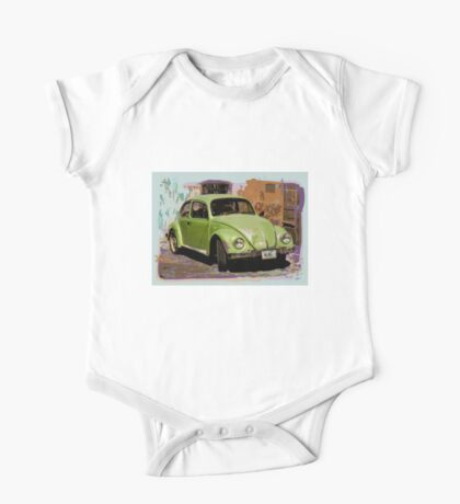 Green Classic Beetle One Piece - Short Sleeve