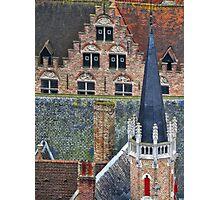 Bruges roofscape Photographic Print