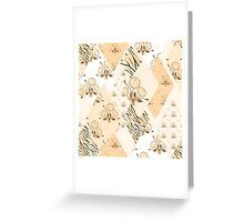 Patchwork wild floral seamless pattern texture background Greeting Card