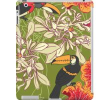 Seamless floral background with petunia toucan iPad Case/Skin