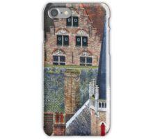 Bruges roofscape iPhone Case/Skin