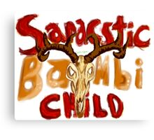 Sarcastic Bambi Child Canvas Print