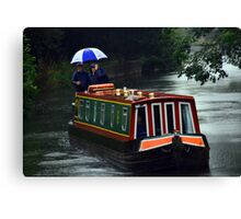Rainy Day on the Canal Canvas Print