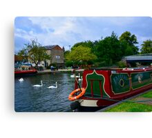 Enijay on the Kennet & Avon Canal Canvas Print
