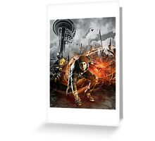 Infamous Second Son - Delsin in the Street Greeting Card
