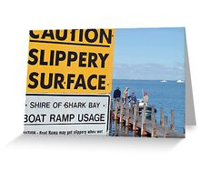 Slippery when wet Greeting Card