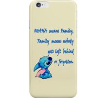Lilo & Stitch - Ohana Family Quote (2) iPhone Case/Skin
