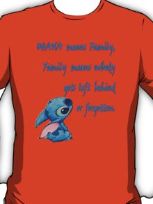 Lilo & Stitch - Ohana Family Quote (2) T-Shirt