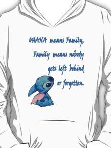 Lilo & Stitch - Ohana Family Quote (2) T-Shirt