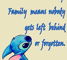 Lilo & Stitch - Ohana Family Quote (2) by TylerMellark