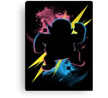 Super Smash Bros. Wario (Biker) Silhouette Canvas Print