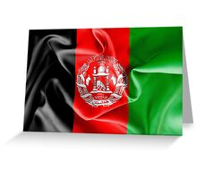 Afghanistan Flag Greeting Card