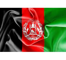Afghanistan Flag Photographic Print