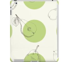 Raster version. Seamless texture of a pear. Illustration for design on white background iPad Case/Skin