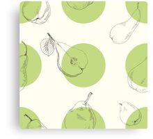 Raster version. Seamless texture of a pear. Illustration for design on white background Canvas Print