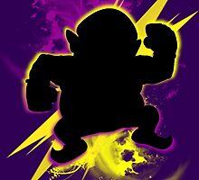 Super Smash Bros. Wario (Classic) Silhouette by jewlecho