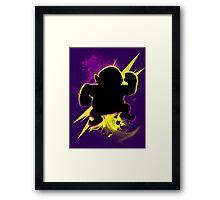 Super Smash Bros. Wario (Classic) Silhouette Framed Print