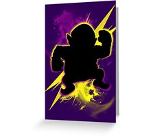 Super Smash Bros. Wario (Classic) Silhouette Greeting Card