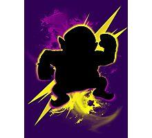 Super Smash Bros. Wario (Classic) Silhouette Photographic Print