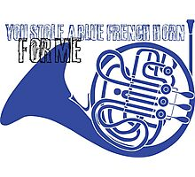 You stole a blue french horn for me Photographic Print