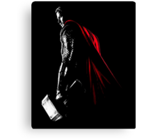 The Avengers - Thor Minimal Black Background Canvas Print