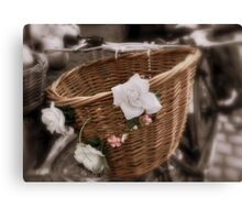 Rosy Basket Canvas Print