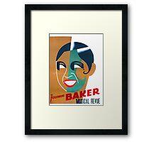 Josephine Baker Vintage Poster for Stockholm Framed Print