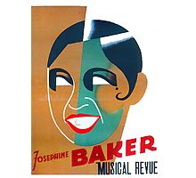 Josephine Baker Vintage Poster for Stockholm Photographic Print