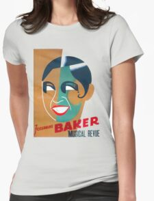 Josephine Baker Vintage Poster for Stockholm Womens Fitted T-Shirt
