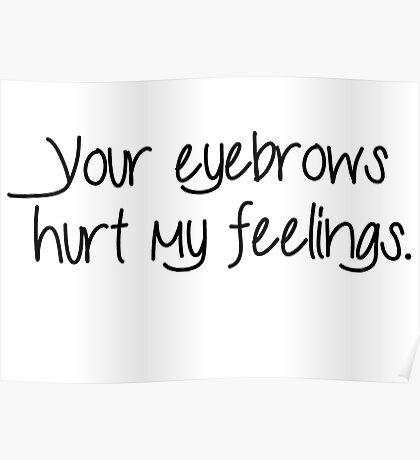 Hurt Feelings - Eyebrows Poster