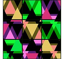 Seamless triangle pattern geometric abstract Photographic Print