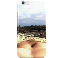 Myself with background in focus nude beach iPhone Case/Skin