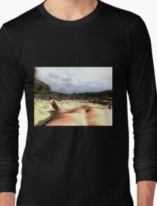 Myself with background in focus nude beach Long Sleeve T-Shirt