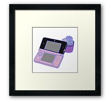 Nintendo DS and succulents - pink Framed Print