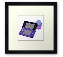 Nintendo DS and succulents - purple Framed Print