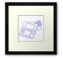 Nintendo DS and succulents - transparent Framed Print