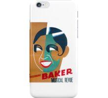 Josephine Baker Vintage Poster for Stockholm iPhone Case/Skin