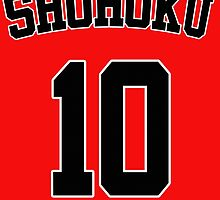 Slam Dunk Hanamichi Sakuragi Shohoku 10 Jersey Cosplay Anime T Shirt by ryoka