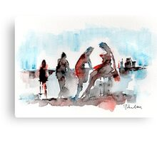 Girls at the Bar Canvas Print