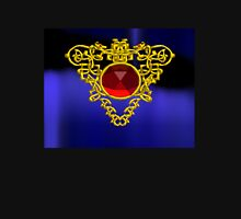 GOLD CELTIC HEART WITH RED RUBY GEMS Unisex T-Shirt