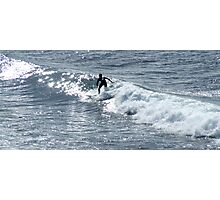 Lone surfer at Bells Beach Photographic Print