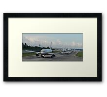 Line up Singapore's Changi Airport Framed Print