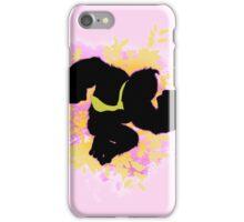Super Smash Bros. Pink Donkey Kong Silhouette iPhone Case/Skin