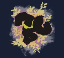 Super Smash Bros. Pink Donkey Kong Silhouette Kids Clothes