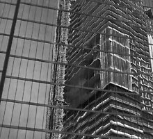 B&W abstract on glass Vancouver by Linda Bianic
