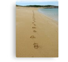 Lonely Footprints Canvas Print