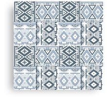 Seamless patchwork of gray color Canvas Print